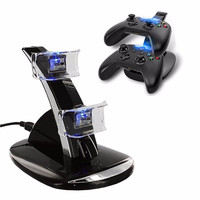 Dual USB Dual Controller Charging Stand LED Light Dock Charger Station For Xbox One Microsoft Gamepad Game Charger Accessories