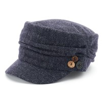 SONOMA life + style Sweater-Knit Gathered 3-Button Cadet Hat, Size: One