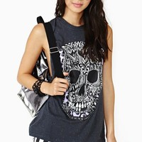 Painted Skull Muscle Tee