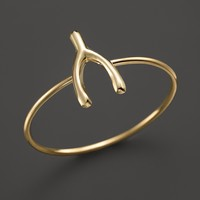 Zoë Chicco 14K Yellow Gold Small Wishbone Ring