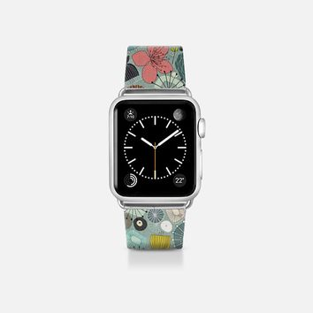 oriental blooms retro floral apple watch band Apple Watch Band (38mm) by Sharon Turner | Casetify