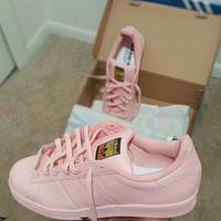SHELL PINK ADIDAS LOWS GRADE SCHOOL/MEN