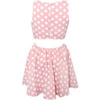 Rare London Polka Dot Cut Out Dress