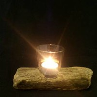 BoGaLeCo.com / Decorative objects / driftwood / Candlesticks / O wooden tealight 2