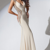 Tony Bowls V-neck Prom Dress