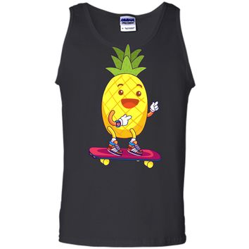 Unisex Men_s Women_s T Shirt Skateboard Pineapple Boy Tank Top