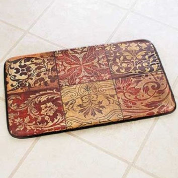 Floor Mat Kitchen Reversible Comfort Chefs Cushioned Cook Mosaic Anti Fatigue