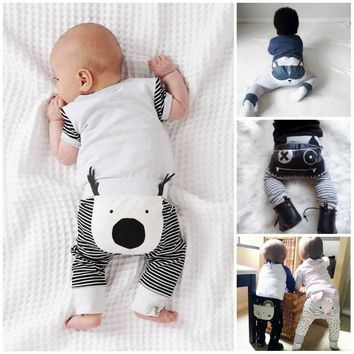 Cute Infant Baby Boys Girls Cartoon Bottom Pants Harem Leggings Trousers 0-24M Clothes Clothing Outfits Drop Ship