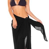 1 World Sarong Women's Fringeless Swimsuit Cover-up
