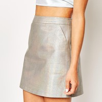 Sister Jane Glitter A-Line Mini Skirt