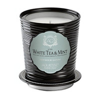 AQUIESSE WHITE TEA & MINT LARGE SOY TIN CANDLE WITH MATCHBOOK