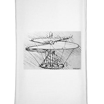 Helicopter Sketch Flour Sack Dish Towel