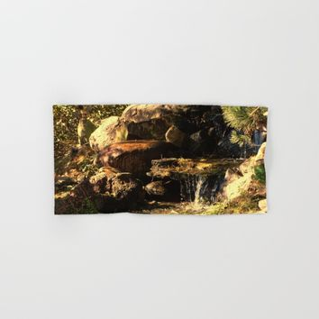 Fall Waterfall Hand & Bath Towel by Theresa Campbell D'August Art