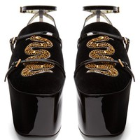 Hannelore detachable-platform velvet pumps | Gucci | MATCHESFASHION.COM US