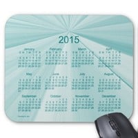2015 Calendar Turquoise Pinch Knot Mouse Pad