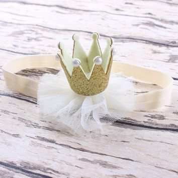 Cool 1PC Princess Queen Rhinestone Tiara Crown Headwear Hair Braider Band Styling Accessories for Baby Kids Girl Toddler InfantAT_93_12