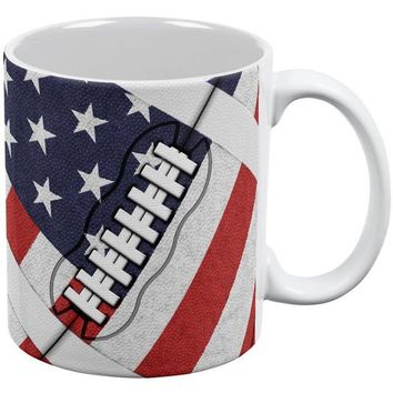 DCCKU3R 4th of July American Flag Patriot Football All Over Coffee Mug