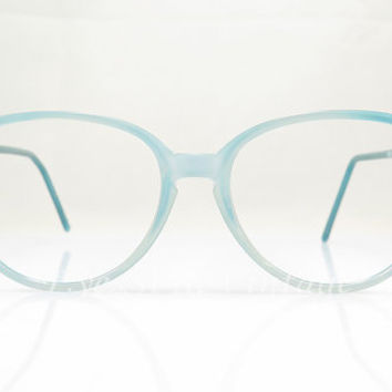 Benetton , Vintage Eyeglasses , Light Blue , Keyhole Nose Bridge , Geek , Hipsters , New Old Stock
