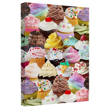 Cupcakes Canvas Wall Art With Back Board