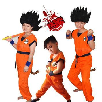 CREY6F Dragon Ball Kids Costumes The Monkey King Anime Z Monkey Cosplay Costumes Boys Son Goku Clothing Children's Halloween Costume