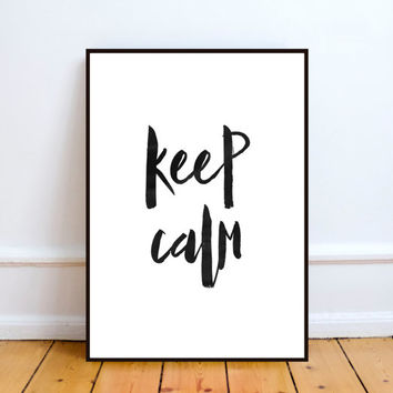 keep calm print,personalized wall art print,office decor,room decor,home decor,wall hanging,watercolor print,inspirational quote,instant