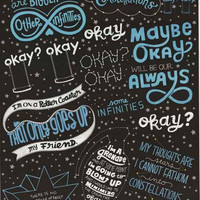 Fault in Our Stars Love Note Movie Poster 22x34