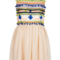 Pom Pom Flippy Dress - Topshop