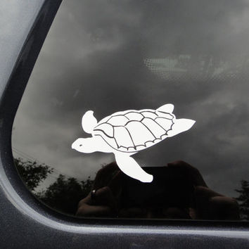 Turtle car sticker - FREE SHIPPING