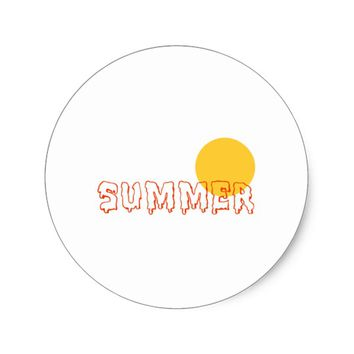 Summer Classic Round Sticker