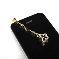 Gold Plated Open Butterfly IPhone Jack Anti Dust Plug Cover Stopper