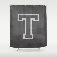 Letter T Shower Curtain by Dena Brender Photography