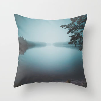 Lake insomnia Throw Pillow by HappyMelvin