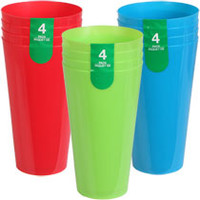 Bulk 22.8-oz. Bright Plastic Tumblers, 4-ct. Packs at DollarTree.com