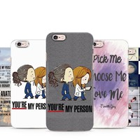 GRAY'S ANATOMY QUOTE MEREDITH ALEX OWEN TV SERIES PHONE CASE COVER FOR IPHONE