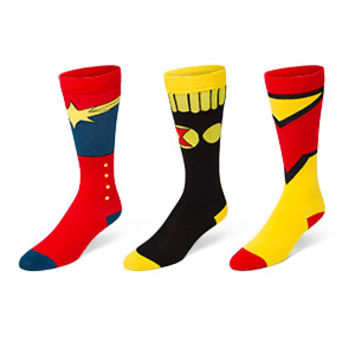 Marvel Characters Ladies' 3-Pack Socks