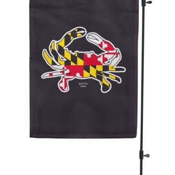 Maryland Full Flag Crab (Black) / Garden Flag