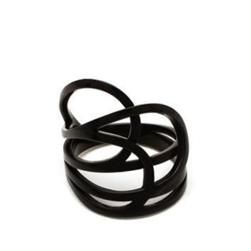 REPOSSI | Chromium Plated 18k Gold La Ligne C Ring | brownsfashion.com | The Finest Edit of Luxury Fashion | Clothes, Shoes, Bags and Accessories for Men & Women