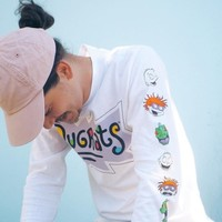 Rugrats Faces Long Sleeve Tee | Urban Outfitters
