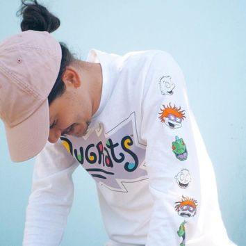 Rugrats Faces Long Sleeve Tee   Urban Outfitters