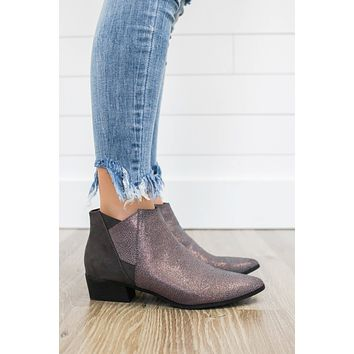 Ladies Night Booties - Charcoal