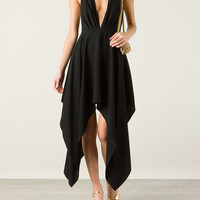 SAINT LAURENT ASYMMETRICAL DRAPED DRESS