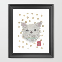CHIHUAHUA Framed Art Print by Bless Hue