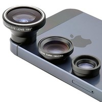 Universal Magnetic Detachable Fish Eye Lens + Macro Lens + Wide Angle Lens for iPhone 4S 5 5S 5C 6 iTouch iPad Samsung Galaxy S4 S5 S6 Note 2/3/4 HTC Sony Nokia
