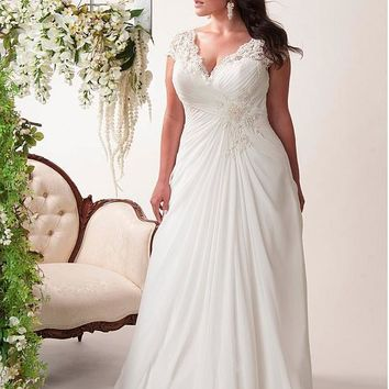 Elegant Applique Wedding Dresses