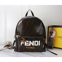 FENDI LEATHER BACKPACK BAG