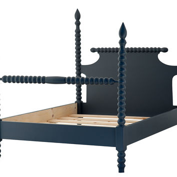 Gwendoline Spindle Bed, Navy, Four Poster Beds