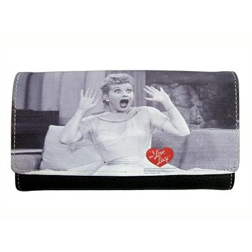 I Love Lucy Face Faux Leather Classic Wallet