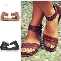 Summer Design Stylish Ring Permeable Sandals [11371330964]