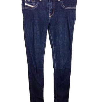 Diesel Jeans Livier Super Slim Jegging Low Waist Dark Wash 0823A Womens 28 - Preowned
