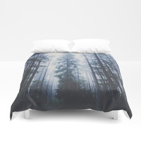 The mighty pines Duvet Cover by happymelvin